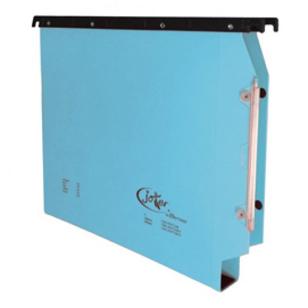 Cartella sospesa Joker - armadio - interasse 33 cm - fondo U-3 cm - 32,6x28 cm - blu - Bertesi