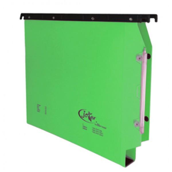 Cartella sospesa Joker - armadio - interasse 33 cm - fondo U 3 cm - 32,6x28 cm - verde - Bertesi