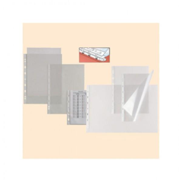 Buste forate Atla T - pesante - liscio - 30x22 cm (album) - trasparente - Sei Rota - conf. 25 pezzi