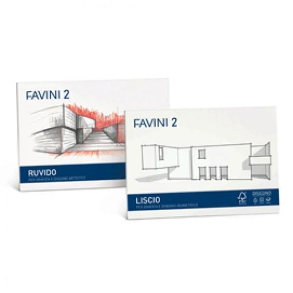 ALBUM FAVINI 2 33X48CM 110GR 10FG RUVIDO (Conf.5) - A172313