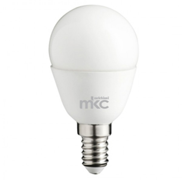 Lampada - Led - minisfera - 5,5W - E14 - 3000K - luce bianca calda - MKC