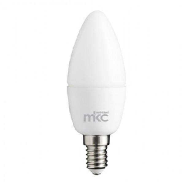 Lampada - Led - candela - 5,5W - E14 - 6000K - luce bianca fredda - MKC