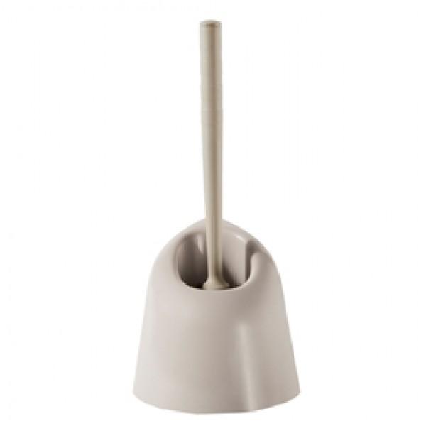 Portascopino angolare - 13x13x39 cm - plastica - bianco - Perfetto