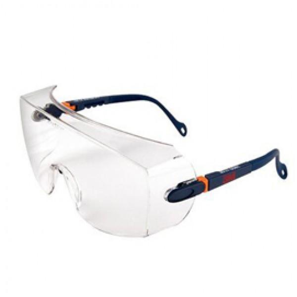 Sovraocchiali di protezione serie 2800 - policarbonato - montatura blu scuro - lenti trasparente - 3M