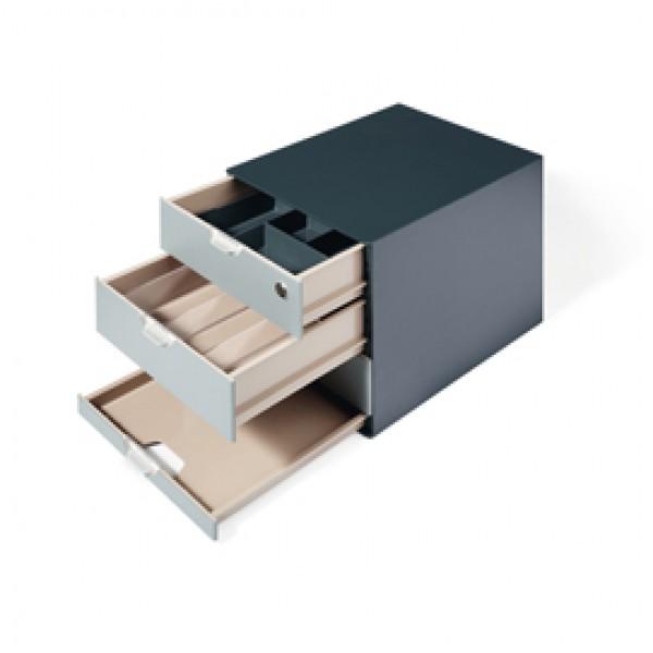 Set Coffee Point Box - 2 organizer inclusi - 28,9x27,9x35,4 cm - ABS - grigio - Durable