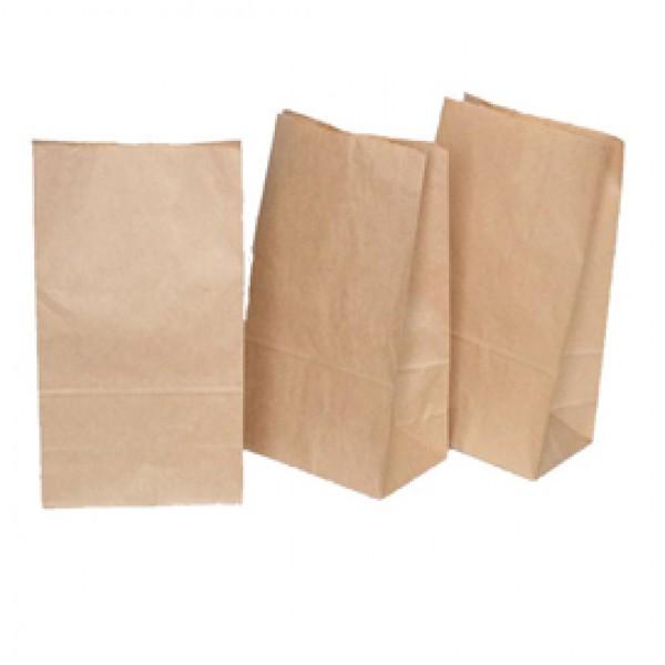 Sacchetti - carta kraft - 8x16 cm - soffietti laterali 2,5 cm - 45 gr - avana - Rex Sadoch - conf. 100 pezzi