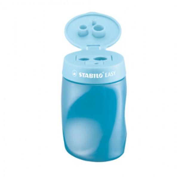 Temperamatite Easy con contenitore - 3 fori  - ergonomico - blu - per destrimani - Stabilo