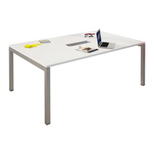 Tavolo riunioni Agorà - 6 posti - 160x120x72,5 cm - bianco - Artexport