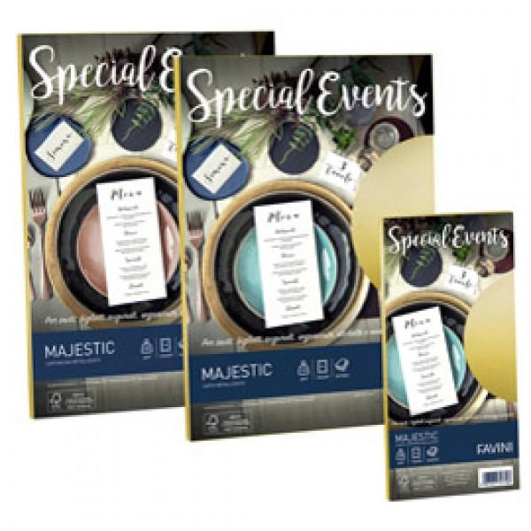 Carta e buste metallizzate Special Events Favini - sabbia - fogli - A4 - 120 gr. A69N154 (conf.20)