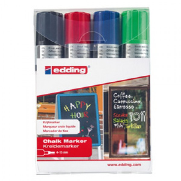 Marcatore Ending 4090 - punta scalpello 4,00 - 15,00 mm - Edding - busta 4 pezzi