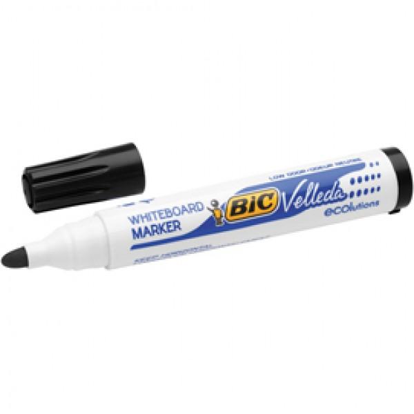 Pennarello per lavagne cancellabili  Whiteboard Marker Velleda 1701 Recycled Bic - punta tonda 1,5mm - nero - Bic - conf. 12 pezzi