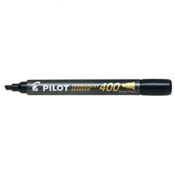 Marcatore Permanente Markers 400 - punta a scalpello 4,50mm - nero - Pilot