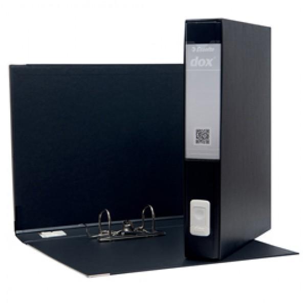 Registratore Dox 5 - dorso 5 cm - protocollo 23x34 cm - nero - Esselte