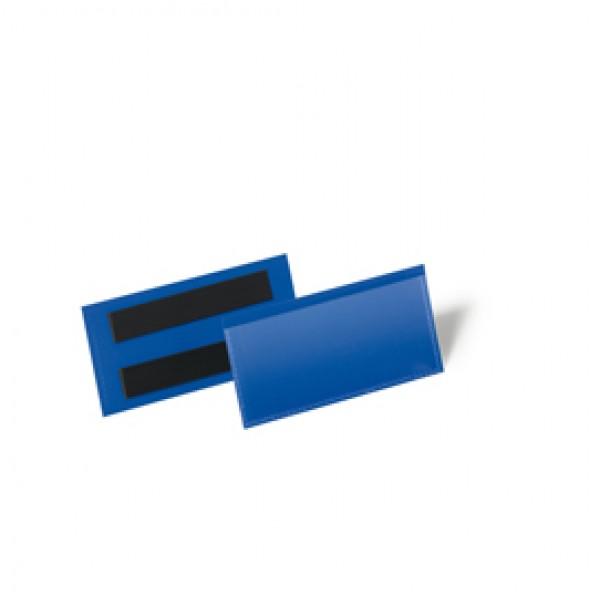 Buste identificative magnetiche - 100x38 mm - Durable - conf. 50 pezzi