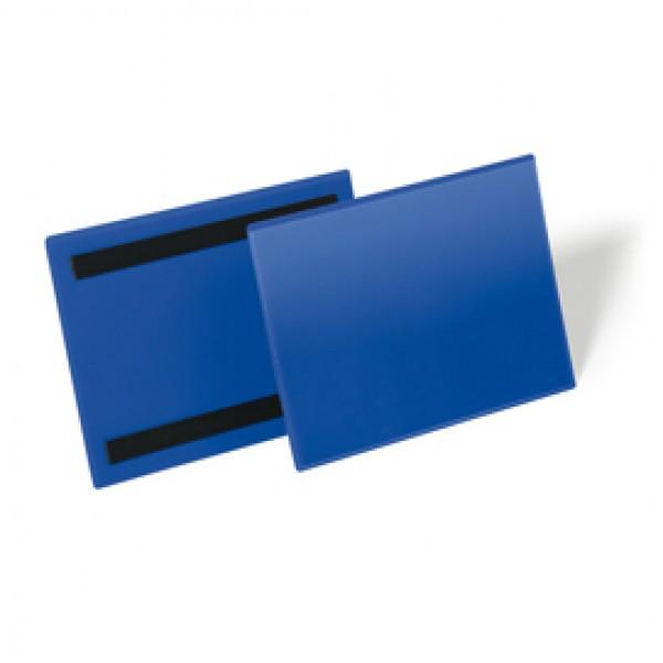 Buste identificative magnetiche - formato A5 orizzontale (210x148 mm) - Durable - conf. 50 pezzi