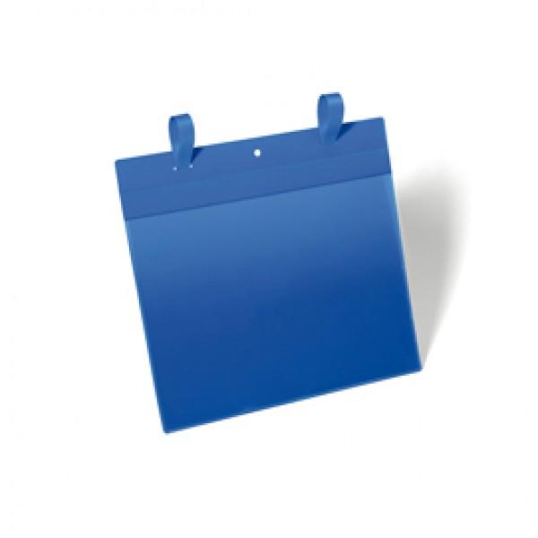 Buste identificative con fascette di aggancio - formato A4 orizzontale (297x210 mm) - Durable - conf. 50 pezzi