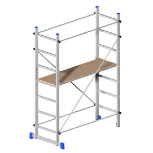 Trabattello Superminio - alluminio - 158x80 cm - altezza 220 cm - superminio - Marchetti