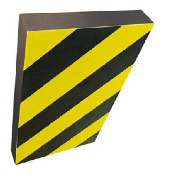 Paracolpi a foglio - gomma NBR - larghezza 100 cm - altezza 150 cm - giallo/nero