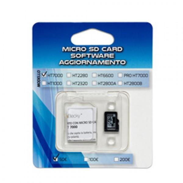 MICRO SD CARD aggiornamento 100/200 per verificabanconote HT7000 - SD7000