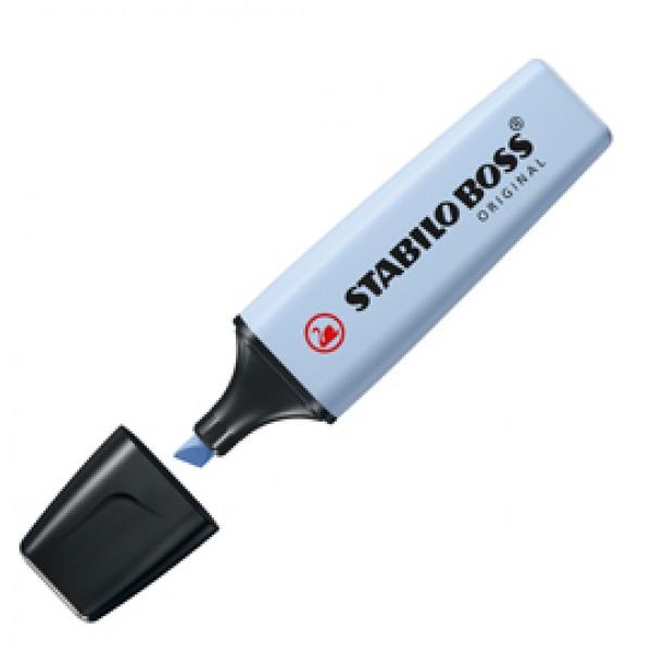 Evidenziatore Boss Original Pastel - punta a scalpello - tratto da 2,0-5,0mm - colore carta da zucchero - Stabilo