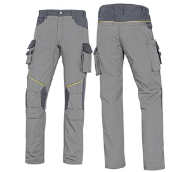 Pantalone da lavoro Mach 2 - twill/poliestere/cotone - taglia M - grigio chiaro/grigio scuro - Deltaplus
