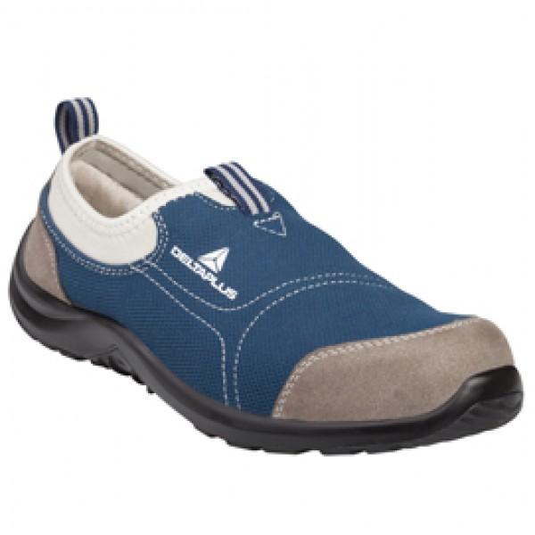 Calzatura di sicurezza Miami S1P SRC - poliestere/cotone - numero 38 - grigio/blu - Deltaplus