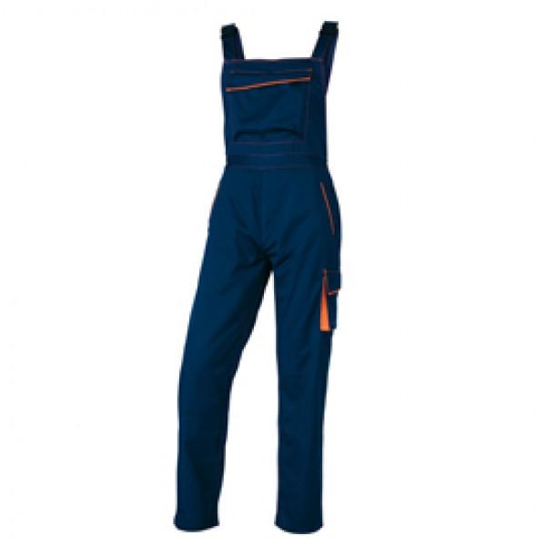 Salopette da lavoro Panostyle® M6SAL - sargia/poliestere/cotone - taglia XXL - blu/arancio - Deltaplus