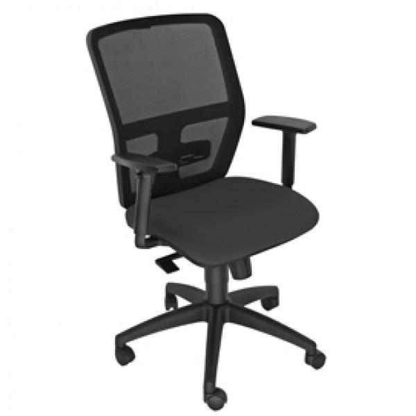 Seduta operativa ergonomica Kemper A Nero c/bracc.reg.