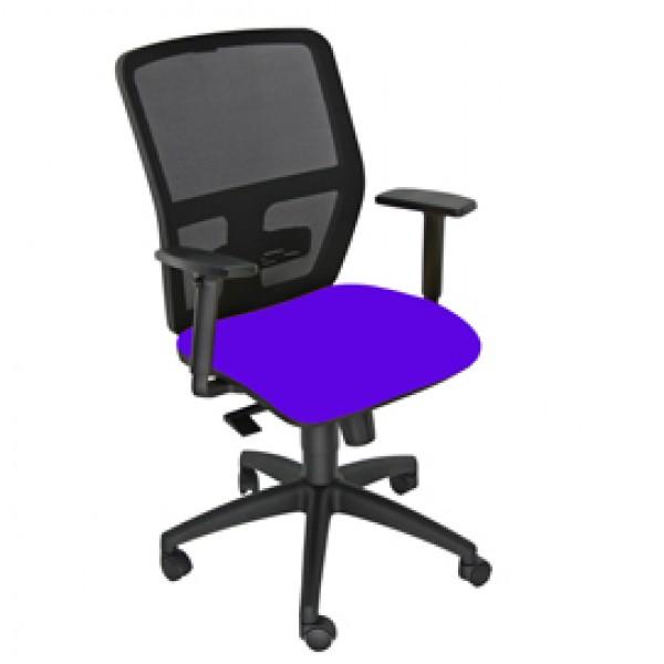 Seduta operativa ergonomica Kemper A Blu c/bracc.reg.