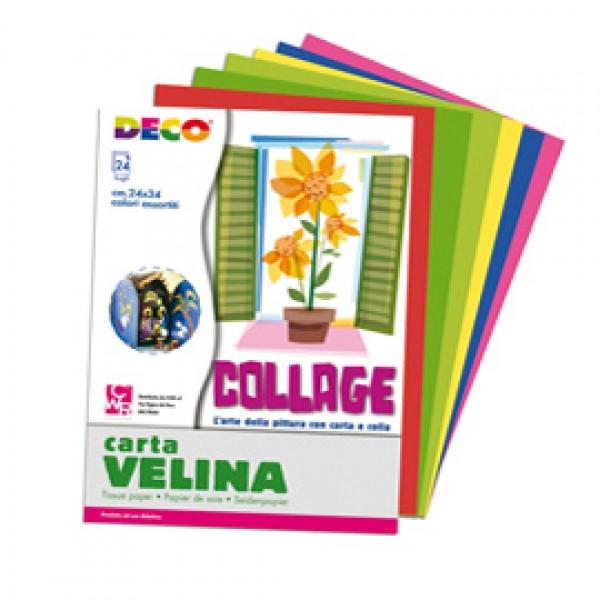 Album di carta velina - 24x34cm - colori assortiti - DECO - 24 fogli
