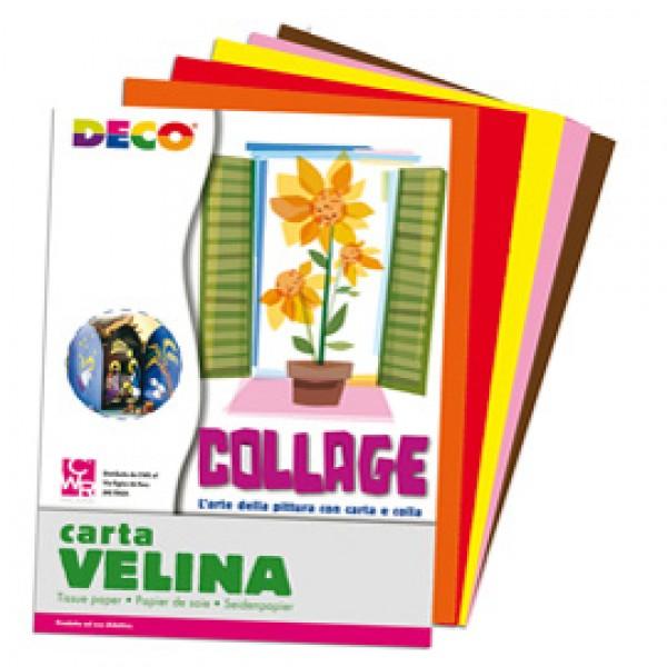 Busta di carta velina 25fg 50x76cm 5 colori caldi assortiti CWR - 10732