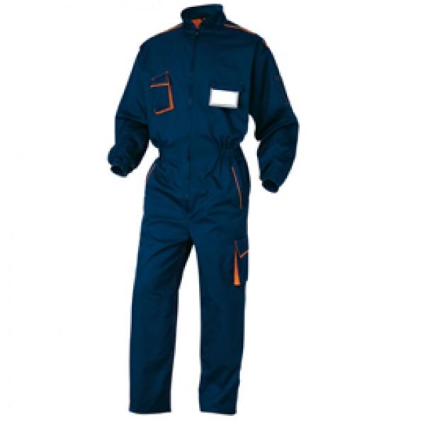 Tuta da lavoro Panostyle® M6COM - sargia/poliestere/cotone - taglia XXL - blu/arancio - Deltaplus