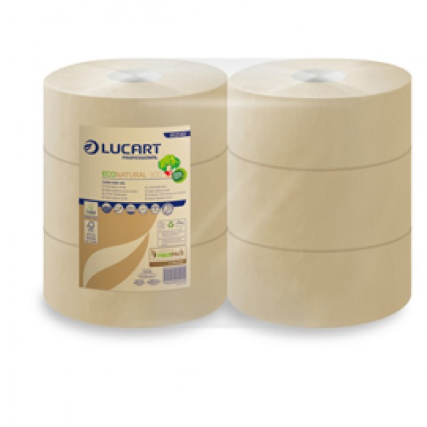 Carta igienica EcoNatural Maxi Jumbo - 9,1 cm x 300 mt - 15,5 gr - diametro 24,5 cm - Lucart