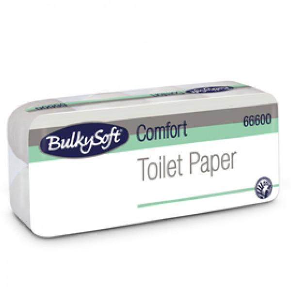 Carta igienica Comfort - 2 veli - 16 gr - diametro 10,5 cm - 9,5 cm x15,2 mt -145 strappi - BulkySoft - pacco 10 rotoli
