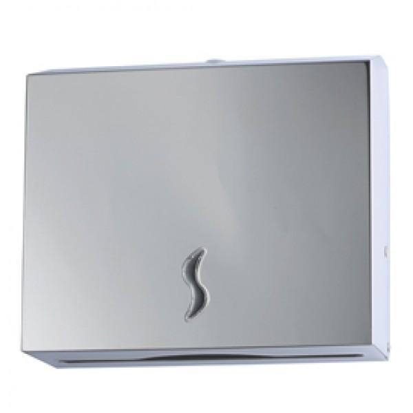 Distributore asciugamani piegati - 28x10,2x26,5 cm - acciaio inox - capacità 200 fogli - grigio - Medial International