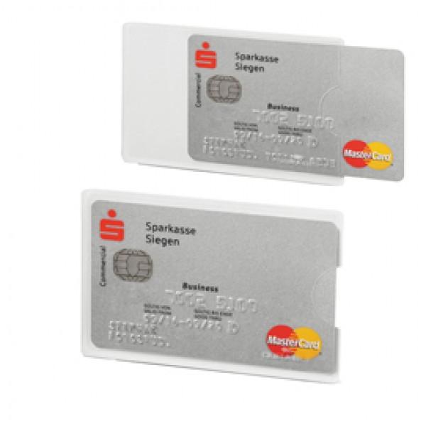 Tasca porta carte di credito RFID Secure - PPL - 5,4x8,7 cm - trasparente/argento - Durable