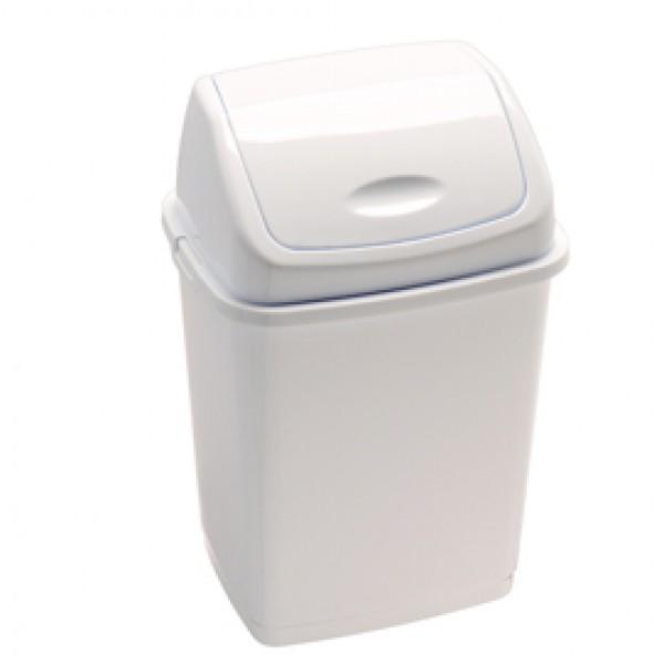 Pattumiera con coperchio basculante Rif Basic - 36x29x55 cm - 35 L - bianco - Medial International