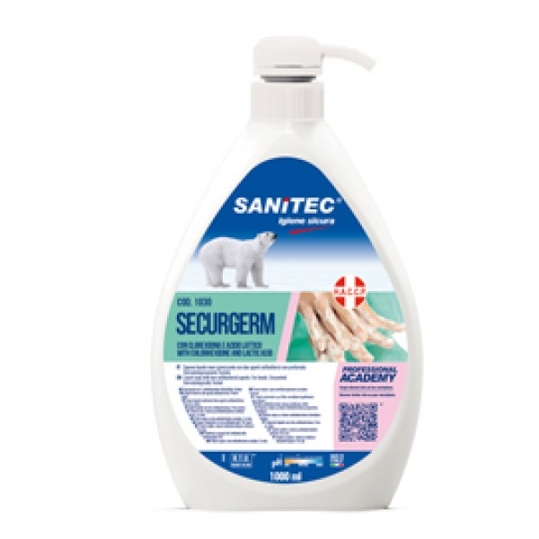 Sapone liquido Securgerm - antibatterico - Sanitec - dispenser da 1 L