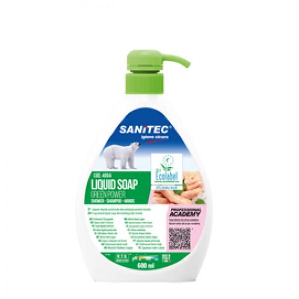 Sapone liquido Green Power - floreale - Sanitec - dispenser da 600 ml