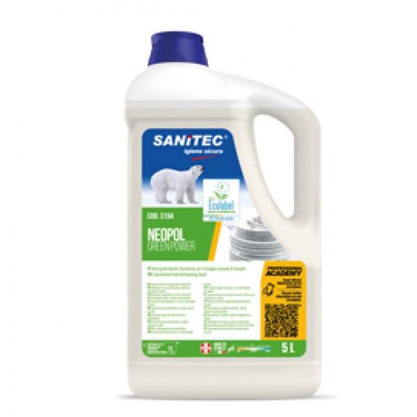 Detergente Green Power Piatti - Sanitec - tanica da 5 L