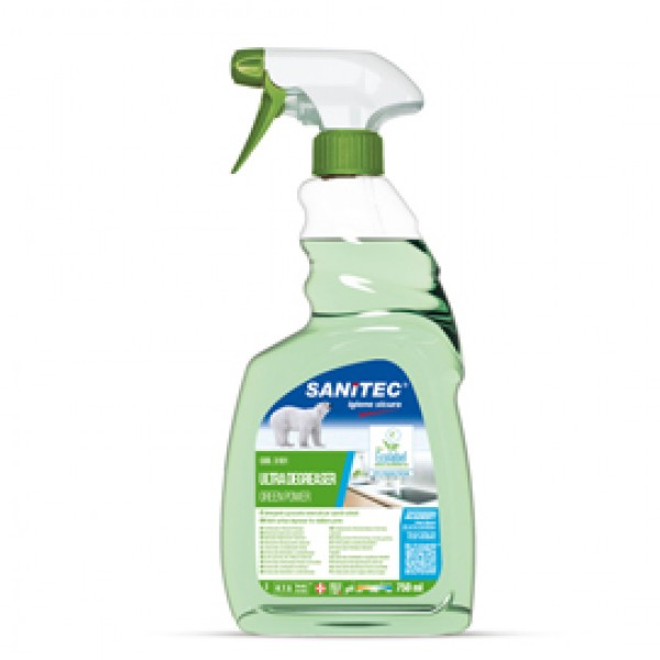 Sgrassatore universale Green Power - Sanitec - trigger da 750 ml