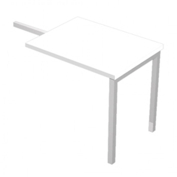 Allungo Agorà - DX/SX - 80x60x72,5 cm - melaminico - bianco - Artexport