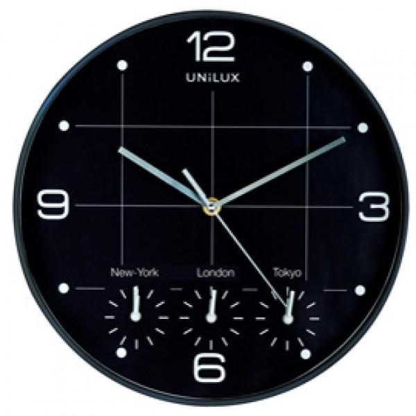 Orologio da parete Ø30,5cm con 4 fusi On Time Unilux - 400094567