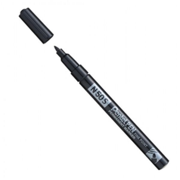 Marcatore permanente N50  - punta tonda 3,18mm - nero - Pentel