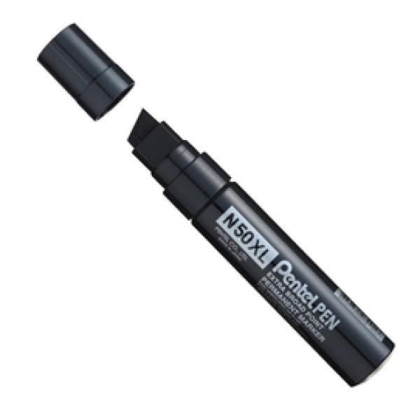Marcatore permanente N50XL - punta a scalpello - 8,00 -15,40 mm - nero - Pentel