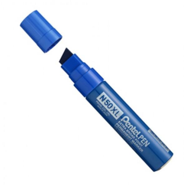 Marcatore permanente N50XL - punta a scalpello - 8,00 -15,40 mm - blu - Pentel
