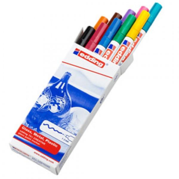 Marcatori 751  - punta fine 1,00 - 2,00 mm - Edding - astuccio 10 pezzi