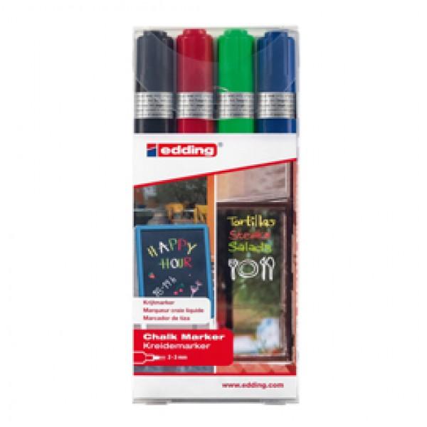 Marcatore Ending 4095 - punta tonda da 2,00 - 3,00 mm - colori assortiti - Edding - astuccio 4 pezzi