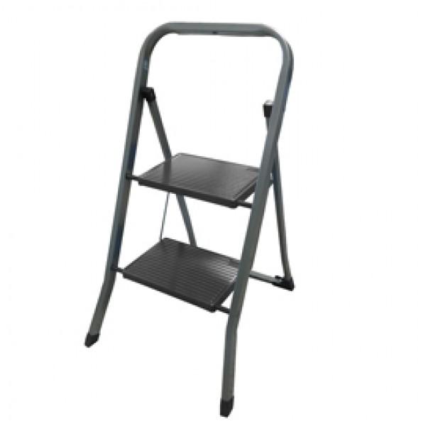 Scala sgabello Dalì - 2 gradini - acciaio verniciato grigio - Marchetti