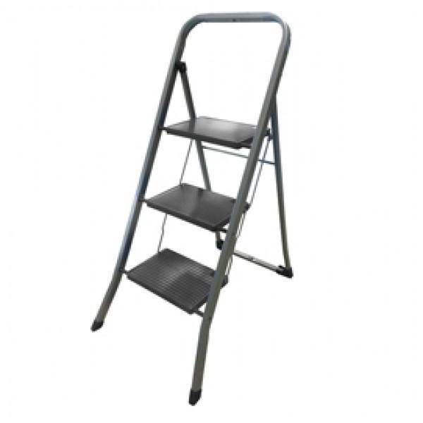 Scala sgabello Dalì - 3 gradini - acciaio verniciato grigio - Marchetti